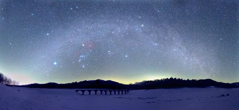 タウシュベツ 冬のアーチ橋