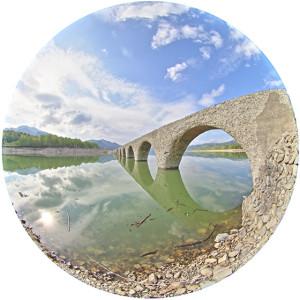 夏のタウシュベツ橋梁1