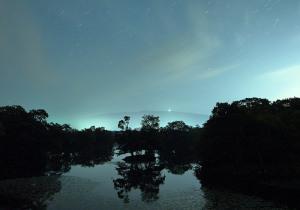 大沼公園と星空