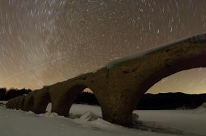 2月 冬のタウシュベツと国際宇宙ステーション