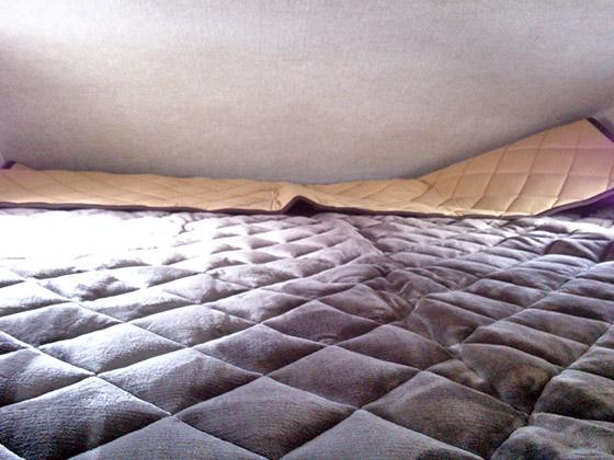 マットを敷いた後のバンクベッド
