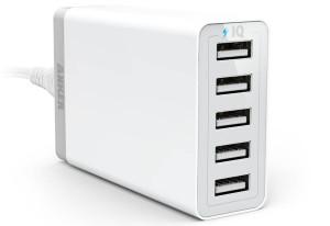 USB充電器 2.4A×5口