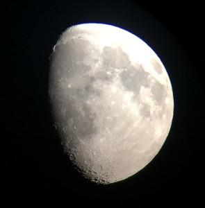 実際に見られる月