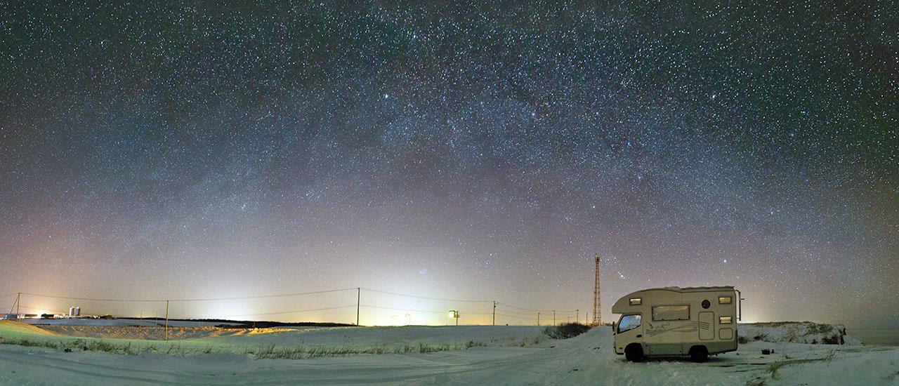 冬の北海道 キャンピングカーで旅行する